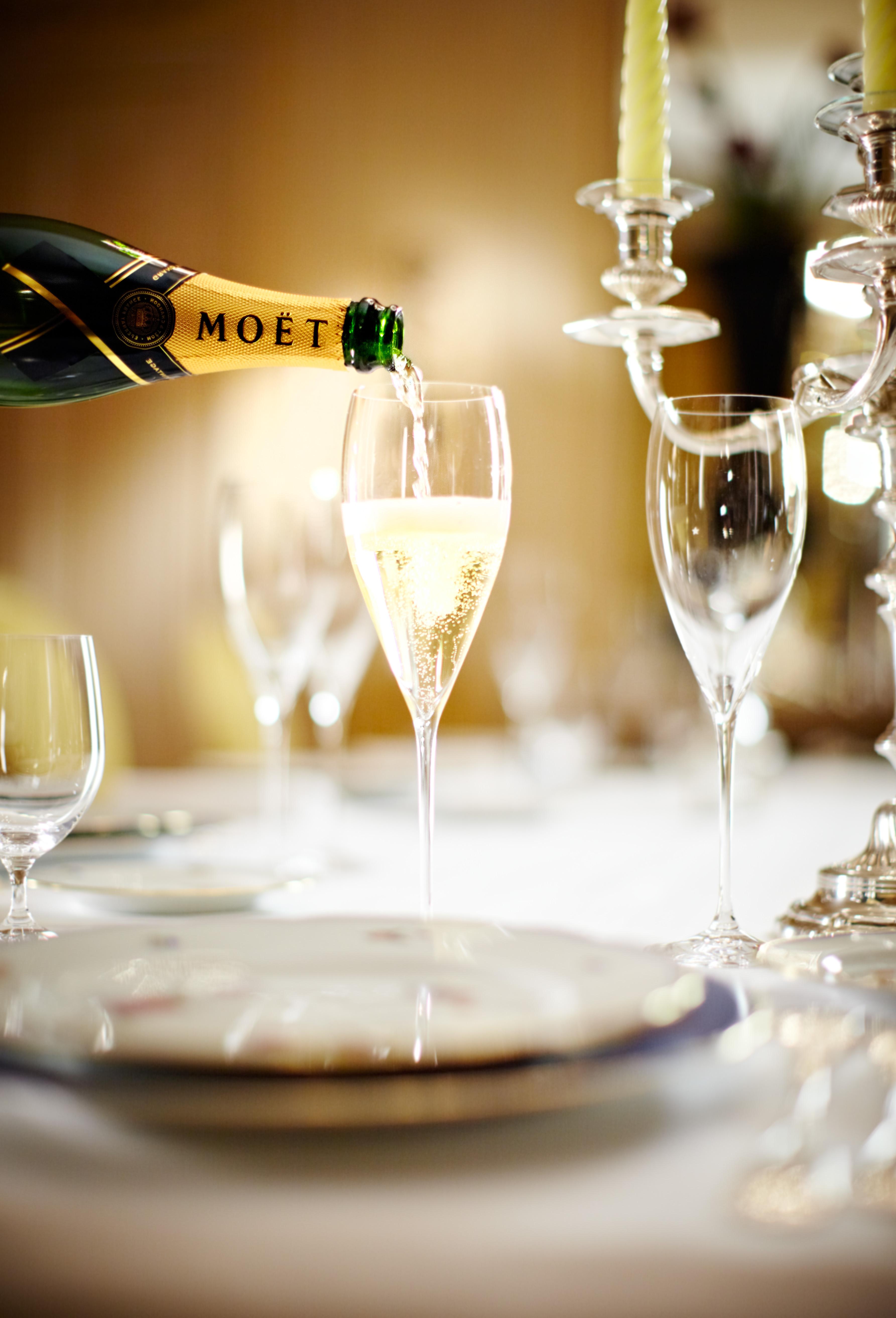 enkel mat till champagne
