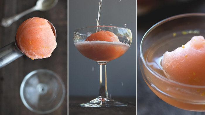 Aperol Spritz Float. Foto och recept: HonestlyYUM