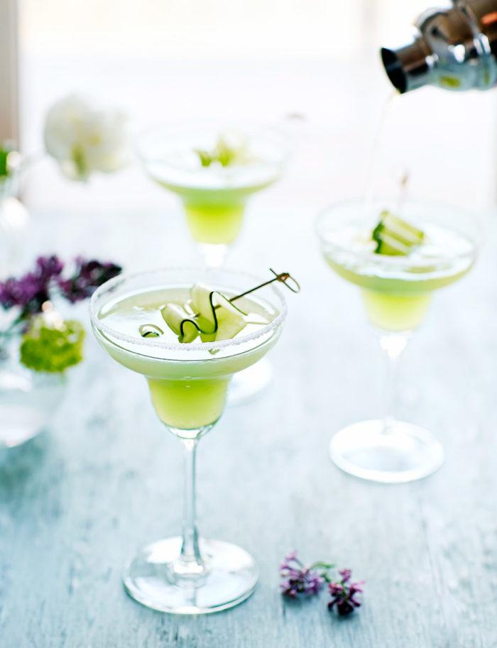 Cucumber Margarita med gurka.