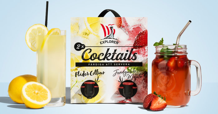 Explorer lanserar cocktails på bag-in-box.