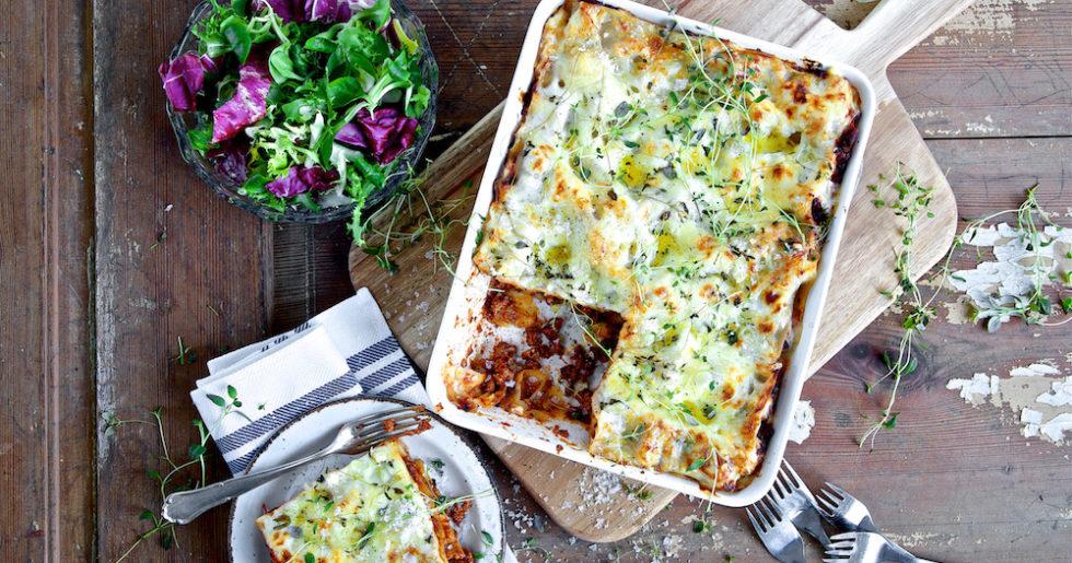 vegetarisk lasagne med quorn