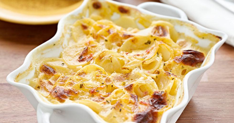 potatisgratäng med färskpotatis