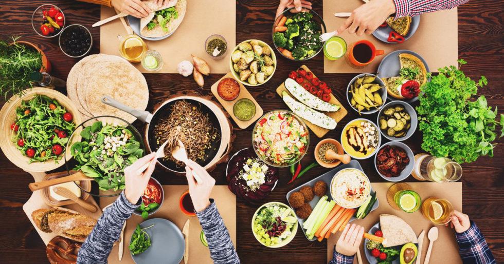 mat och grönt
