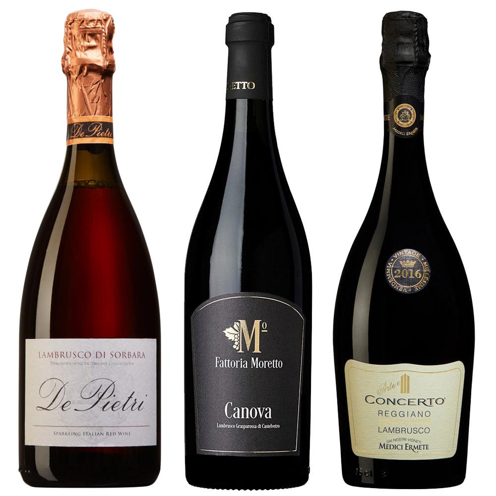 rött vin med bubblor