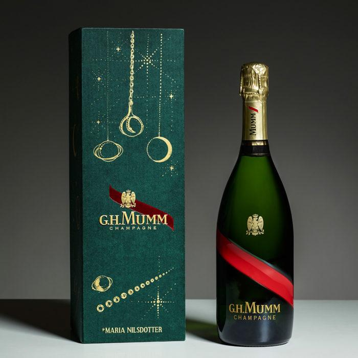 Maria Nilsdotters champagneförpackning för Mumm Grand Cordon.