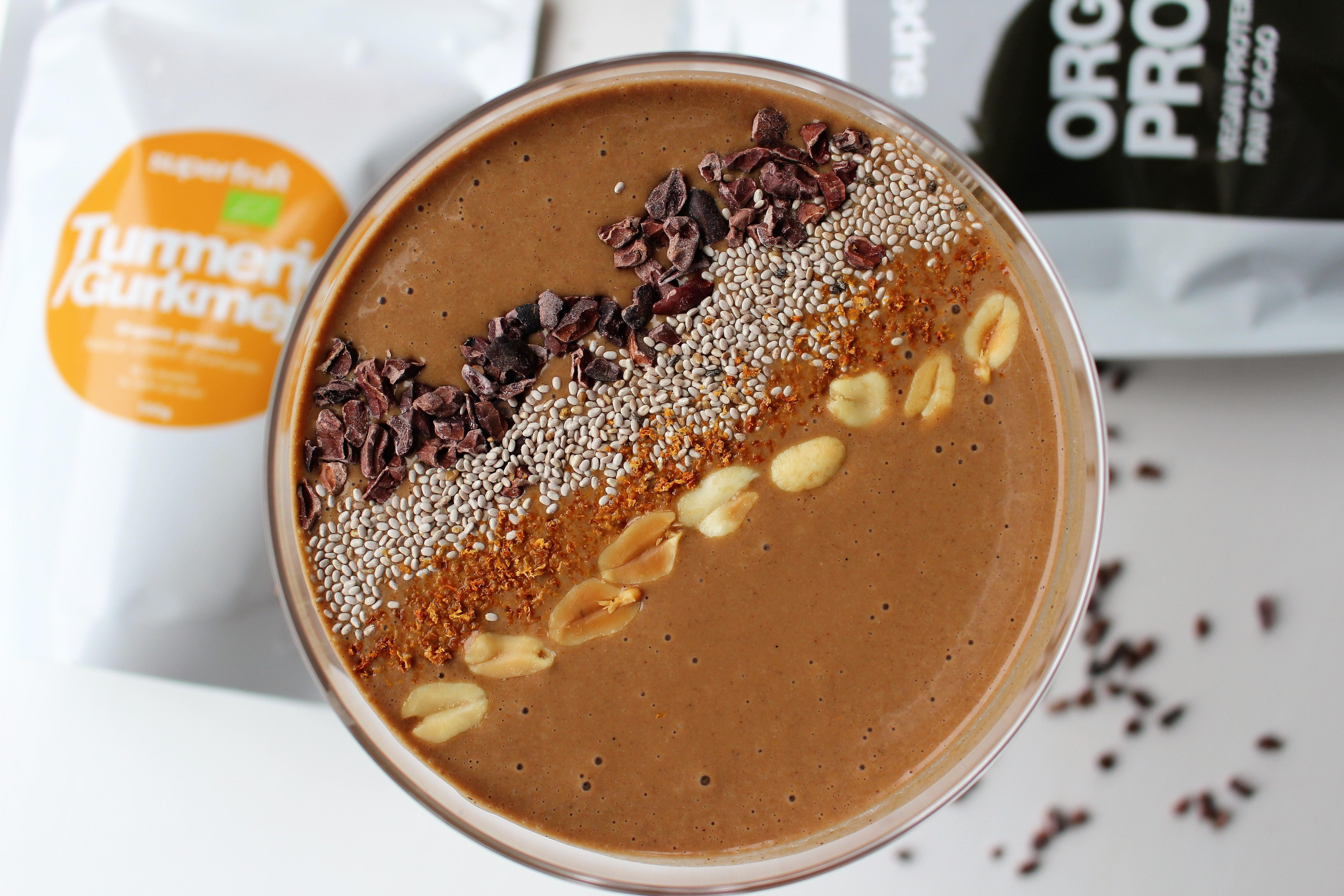 banan choklad smoothie nyttig