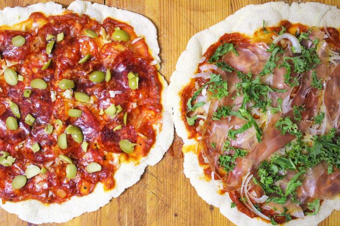 glutenfri pizza med bakpulver