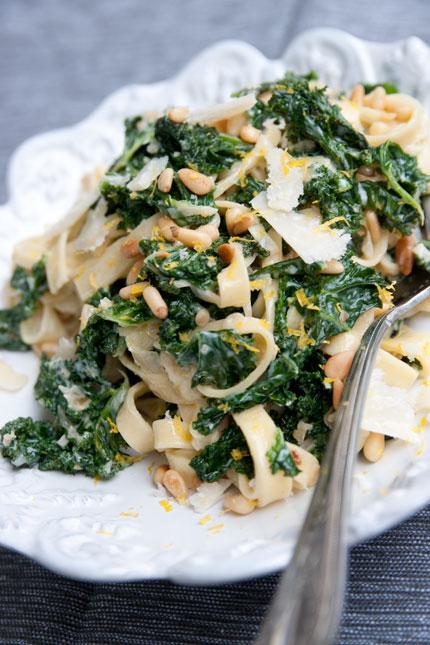 grönkål och pasta