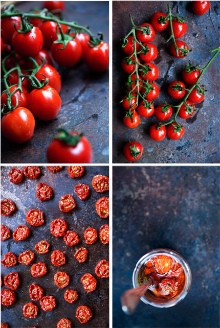 ugnsbakade tomater med mozzarella