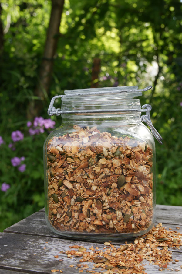 granola recept honung