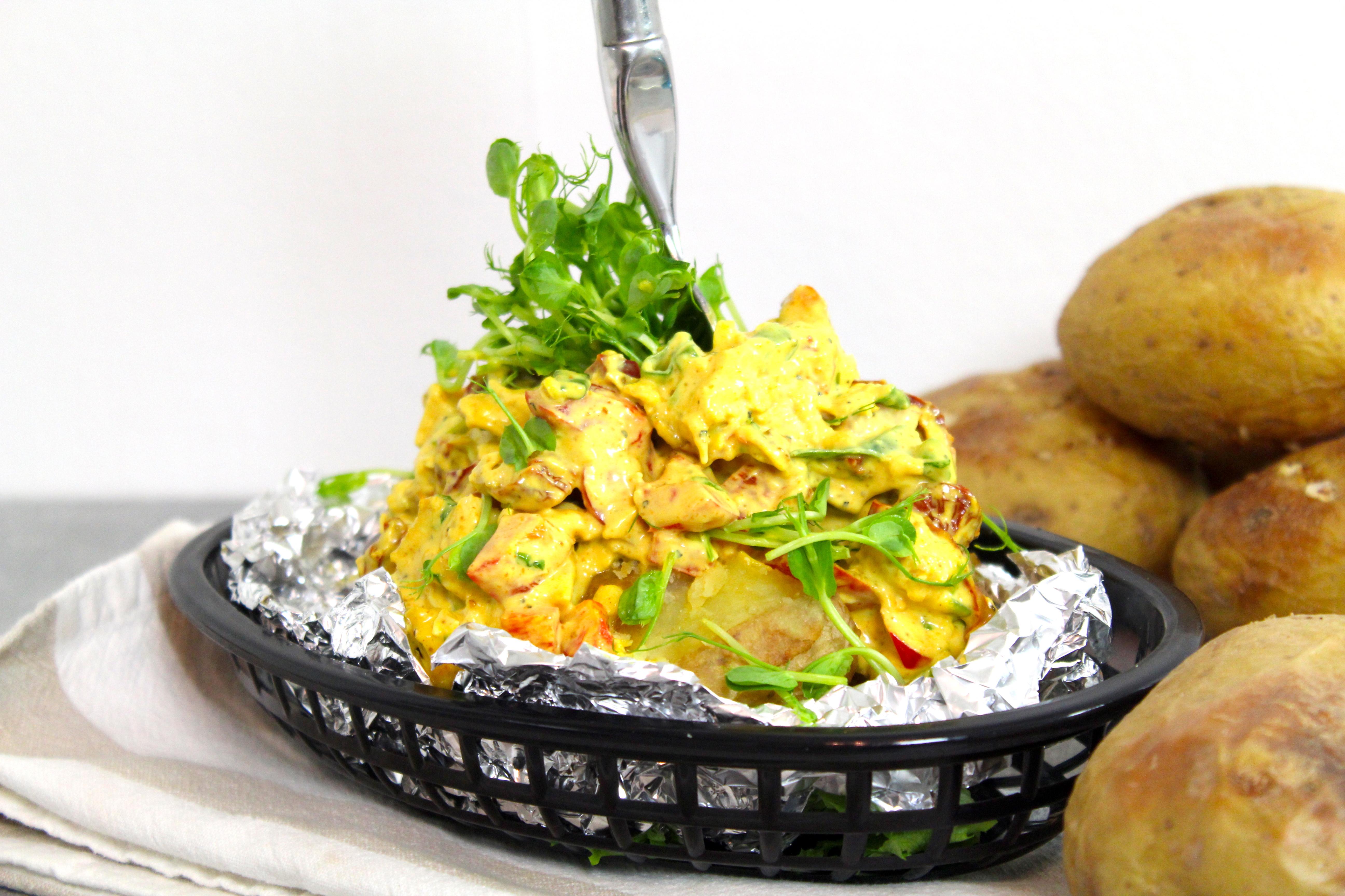 bakad potatis kyckling curry