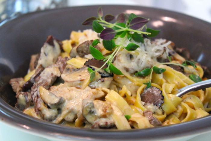 krämig oxfile pasta