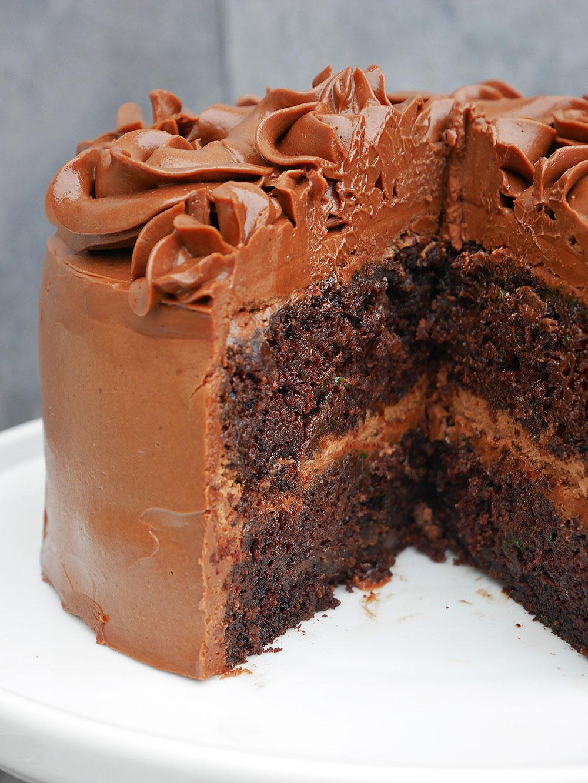 chokladtårta med smörkräm