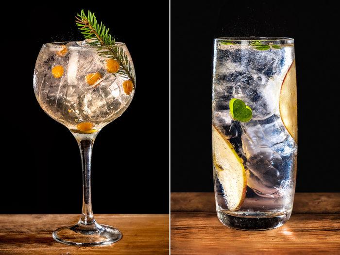 Gin & Tonic med granskott och hjortron