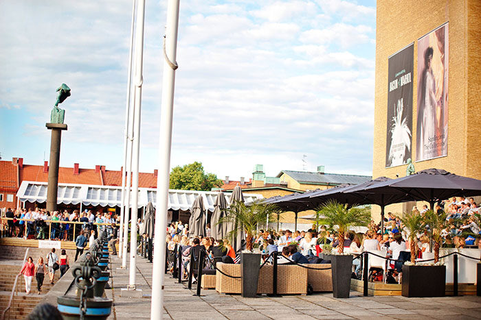 Uteserveringen på Bar Himmel i Göteborg.